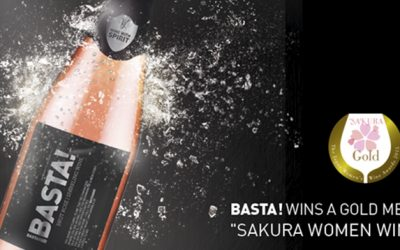 "Basta! wins a gold medal at ""Sakura Women Wine Awards""  in Japan"