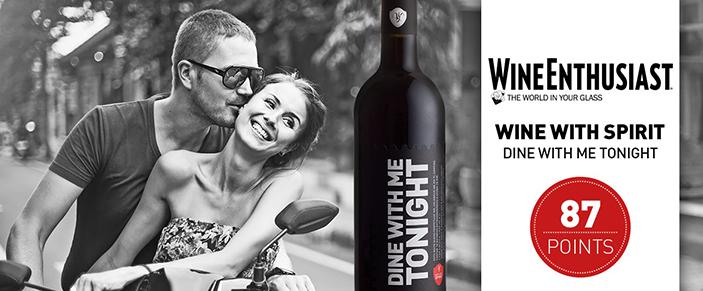 Dine With Me Tonight – 87 pontos na Wine Enthusiast