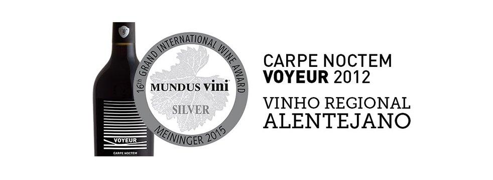 Mundus Vini distingue Carpe Noctem Voyeur com medalha de prata