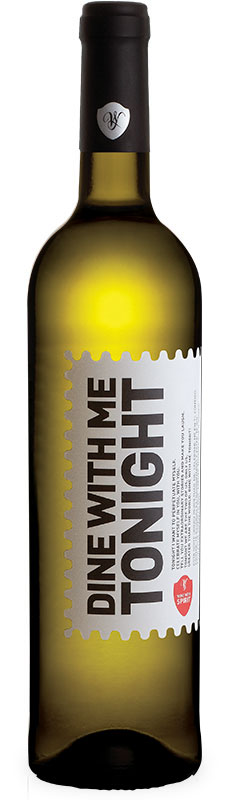 dine with me tonight white wine with spirit