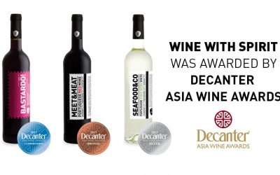 Wine With spirit awarded with 3 medals at Decanter Asia