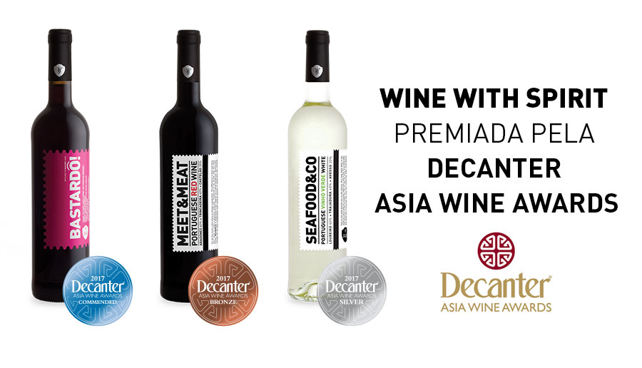 Wine With Spirit premiada com 3 medalhas no Decanter Asia
