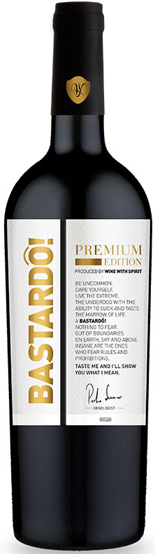 vinho tinto bastardo black edition wine with spirit